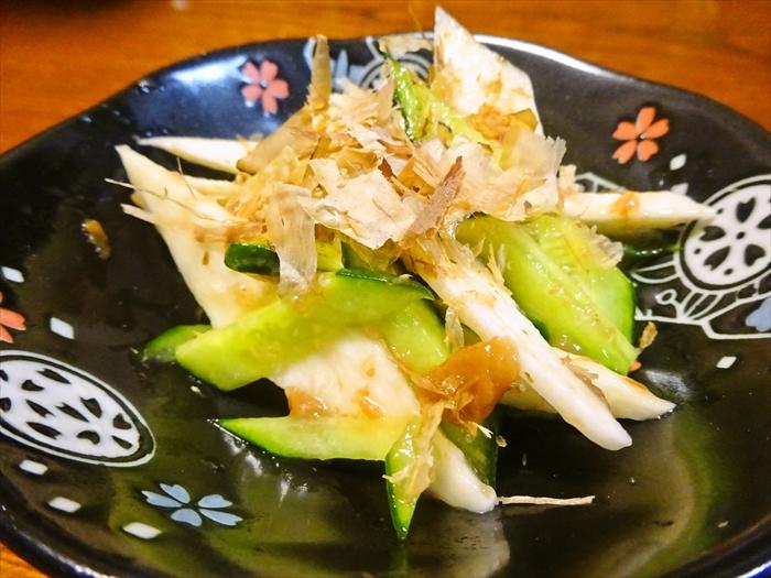 長芋ときゅうりの梅肉和え2