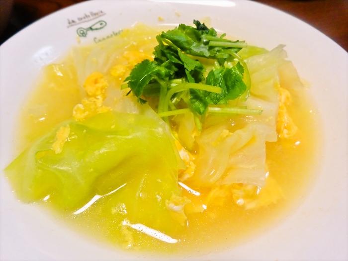 96ec770820335f9bdc00b8980e50cef3 芯まで美味しい!「春キャベツとふわふわ卵のスープ」レシピ
