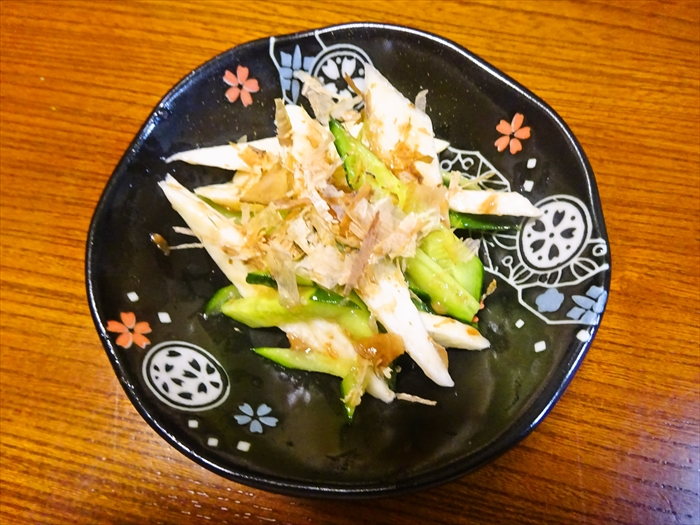 長芋ときゅうりの梅肉和え1